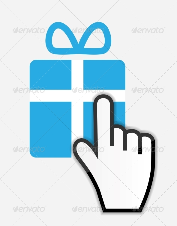 GraphicRiver Mouse Hand Cursor on Gift 6193023
