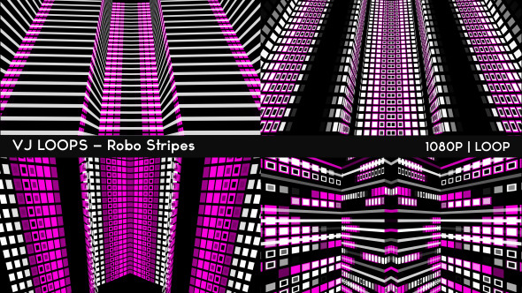 VJ Loops Robo Stripes