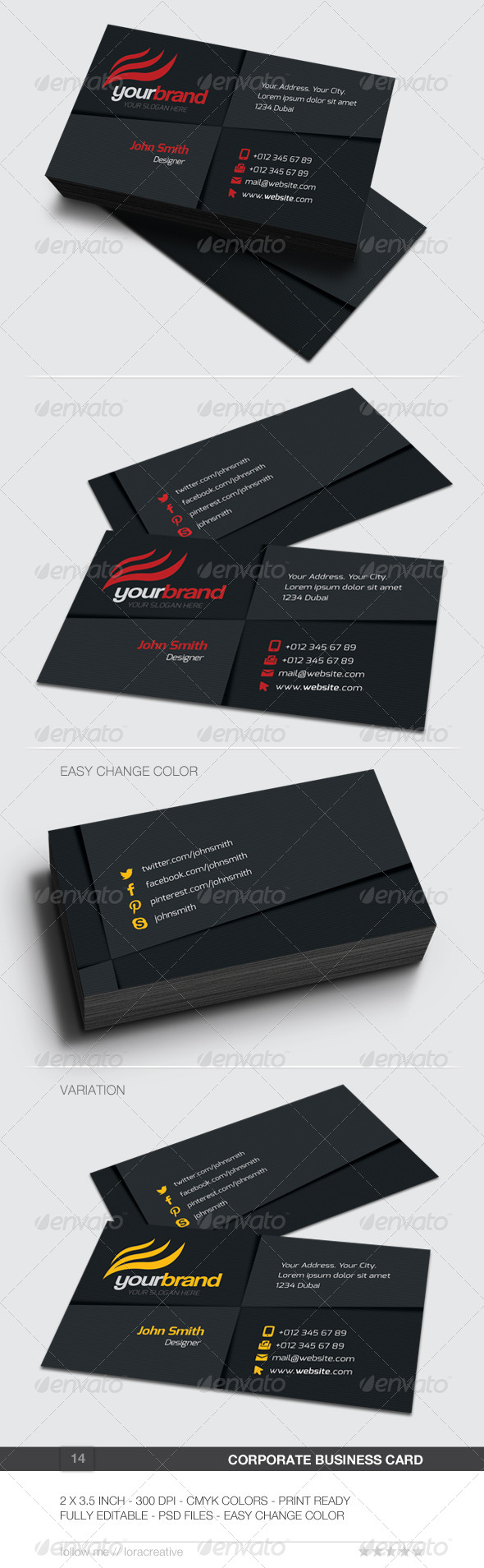 GraphicRiver Corporate Business Card 14 6193108