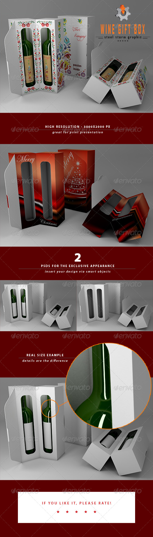 GraphicRiver 3D Wine Gift Box 6193500