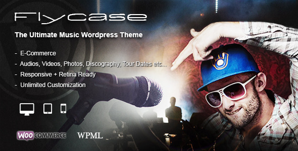 Flycase - Complete Music Solution for WordPress - Music and Bands Entertainment