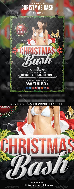 GraphicRiver Christmas Bash Flyer 6183323