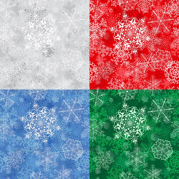 Christmas Seamless Pattern With Snowflakes - Christmas Seasons/Holidays