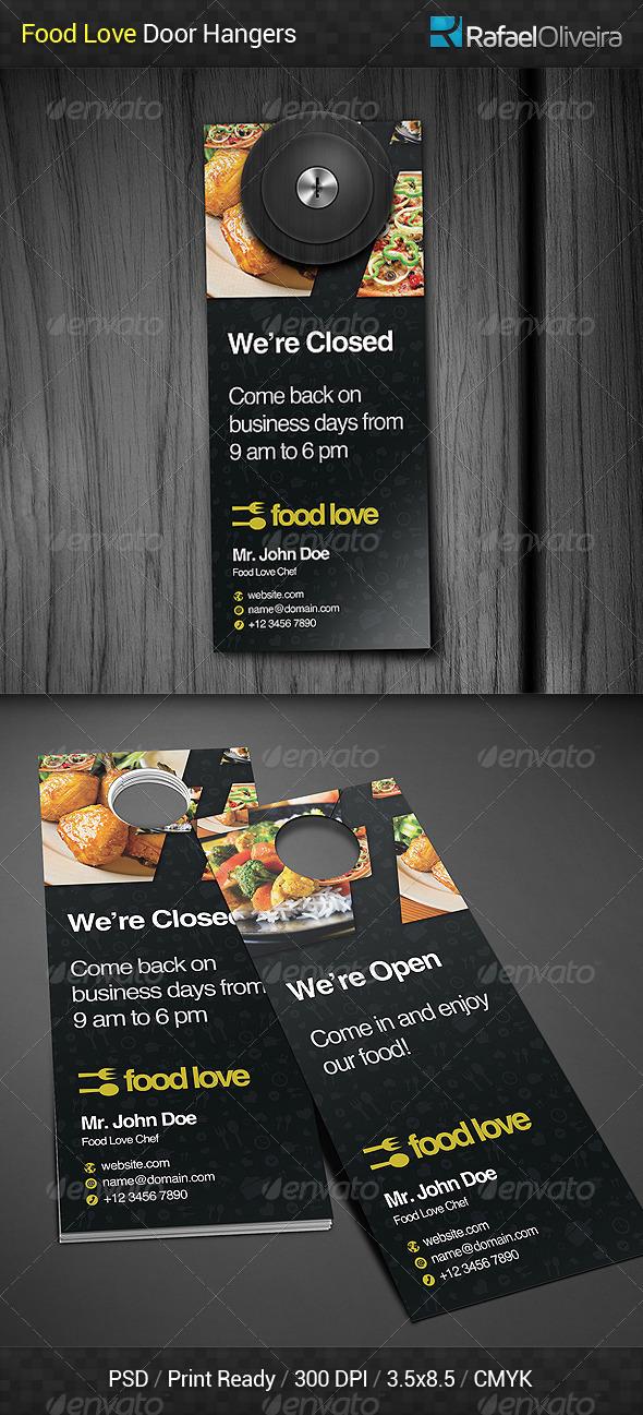 GraphicRiver Food Love Door Hanger 6193607