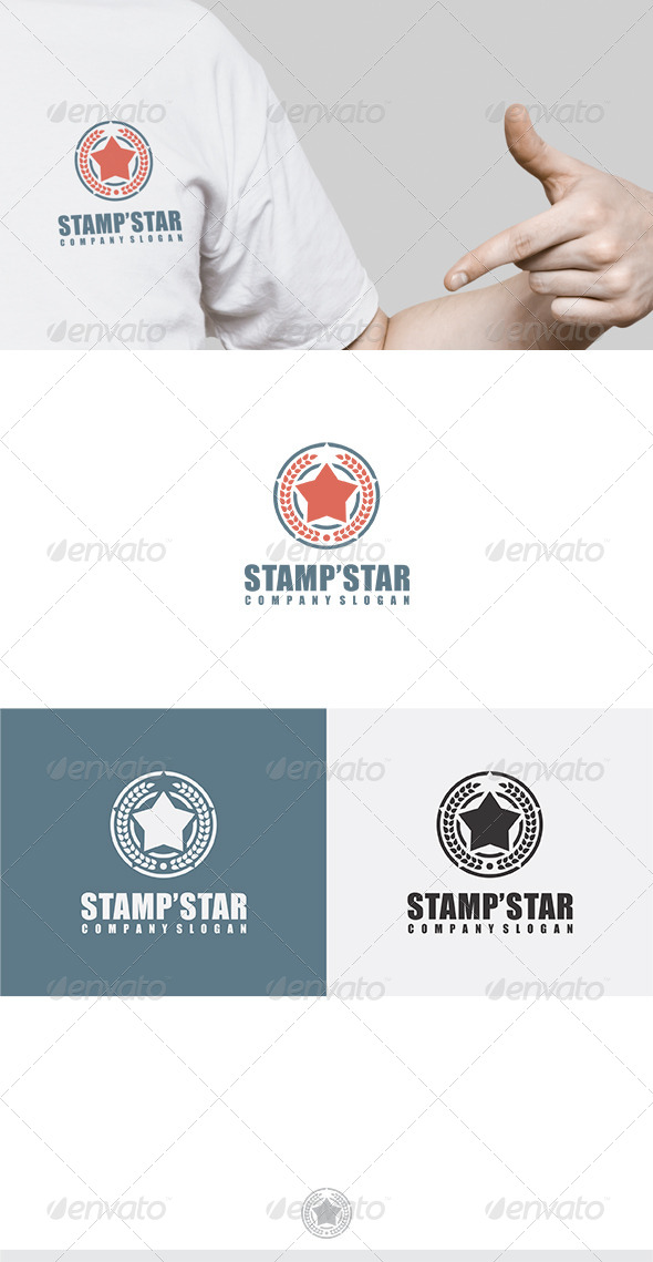 GraphicRiver Stamp Star Logo 6193619