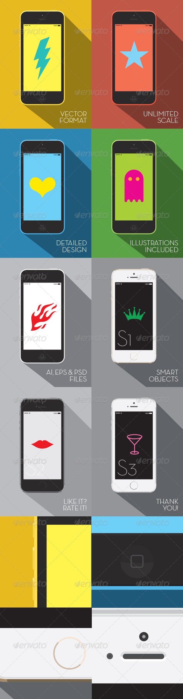 GraphicRiver Phone Vector Mock-UP 6193666