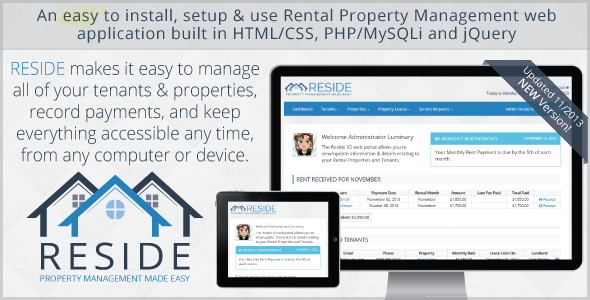 Reside Rental Property Management - CodeCanyon Item for Sale