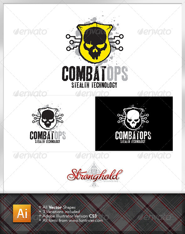 GraphicRiver Military Combat Ops Logo Template 6193879