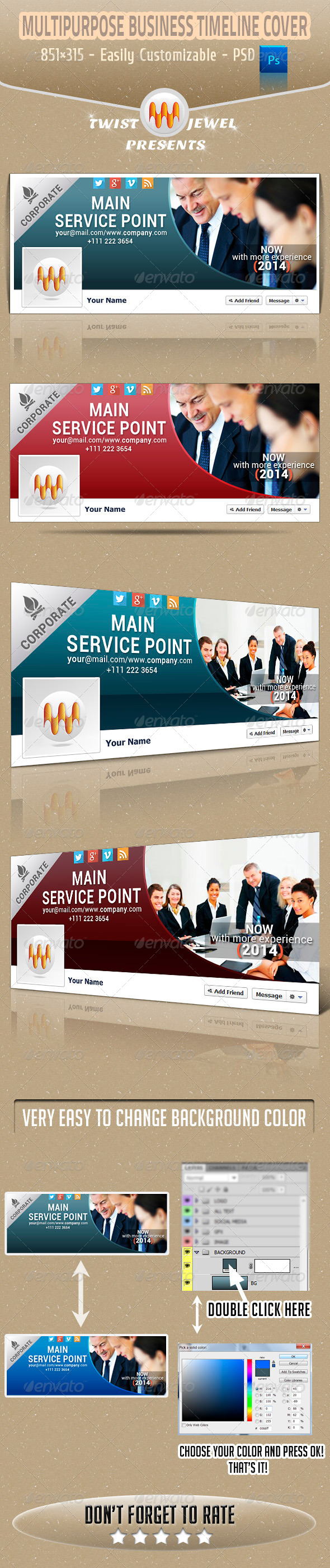 GraphicRiver Multipurpose Business Timeline Cover 6194210