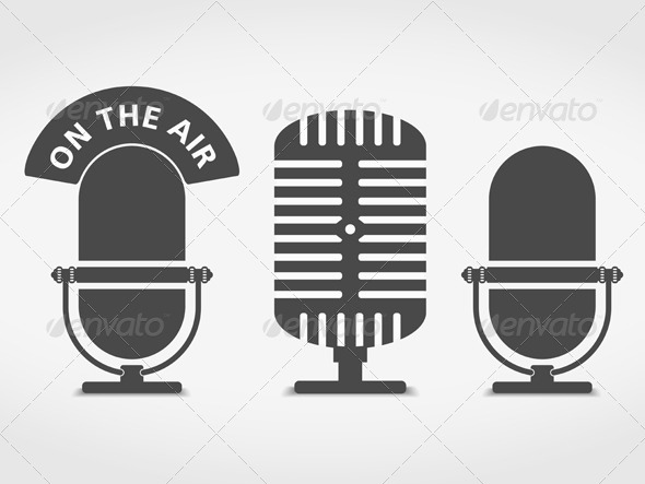 GraphicRiver Microphone Icons 6195097