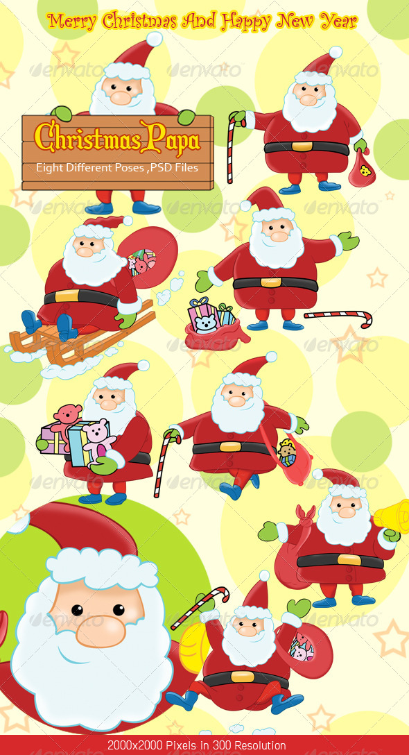 GraphicRiver Christmas Santa Claus 6195140
