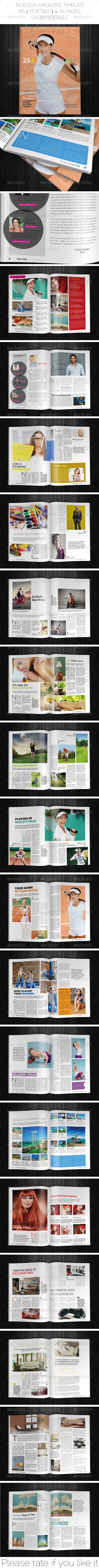 GraphicRiver A5 Portrait Magazine Template 6195794