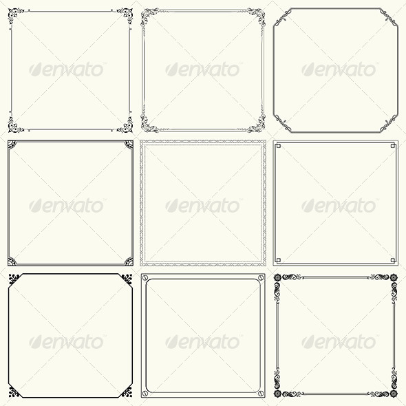 GraphicRiver Decorative Frames 6196259
