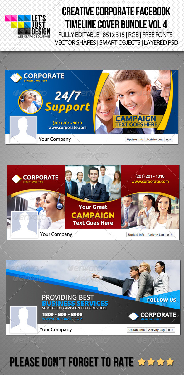 GraphicRiver Corporate Facebook Timeline Cover Bundle Vol 4 6196848