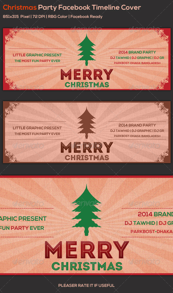 GraphicRiver Christmas Facebook Cover 6196849