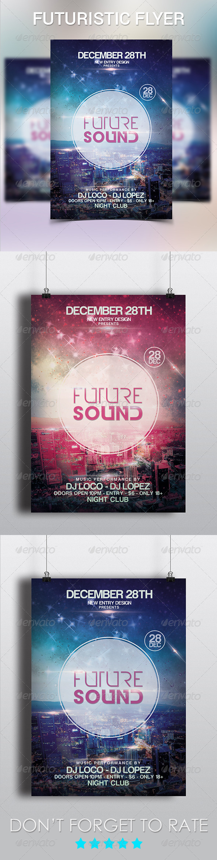 GraphicRiver Futuristic City Flyer Template 6196912