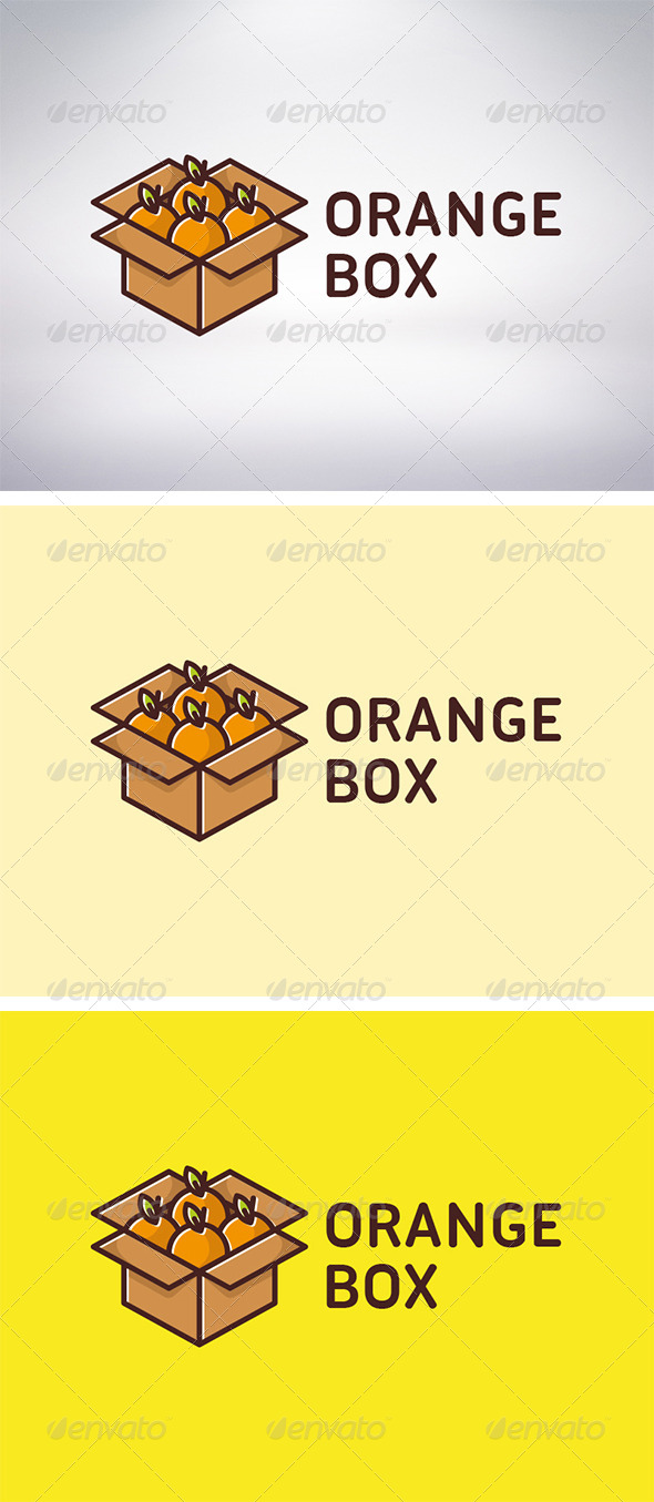 Orange Box Logo - Food Logo Templates