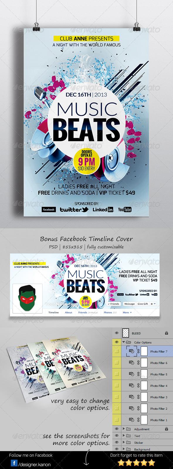 GraphicRiver Futuristic Flyer & Facebook Cover 6197418