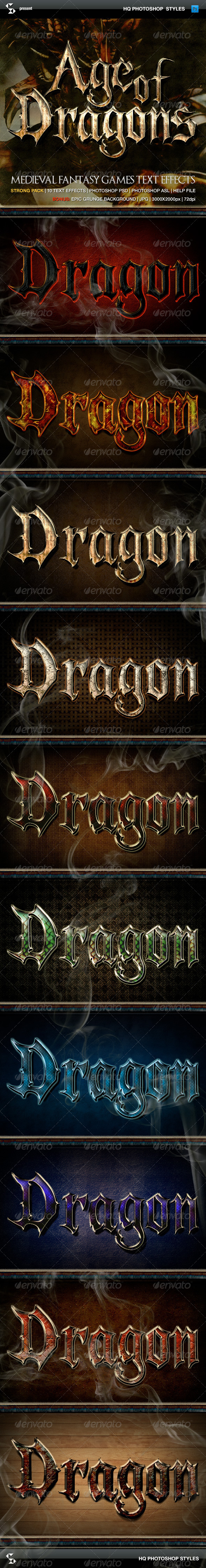 GraphicRiver Fantasy Styles Age of Dragons 6197646
