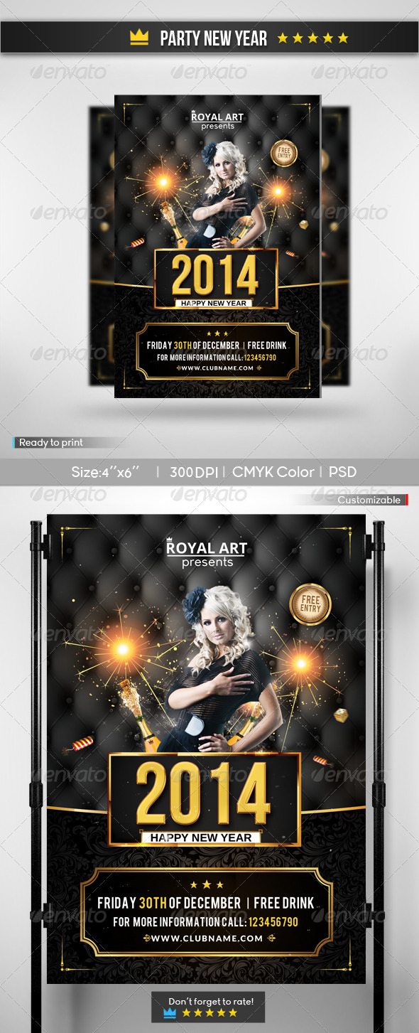GraphicRiver Party New Year Flyer 6197647