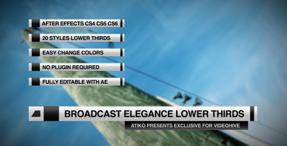 Broadcast Elegance Lower Thirds