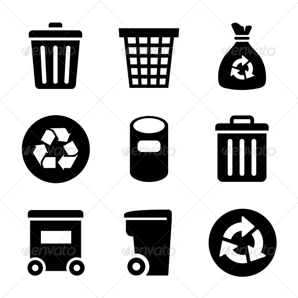 GraphicRiver Garbage Icons Set 6197912