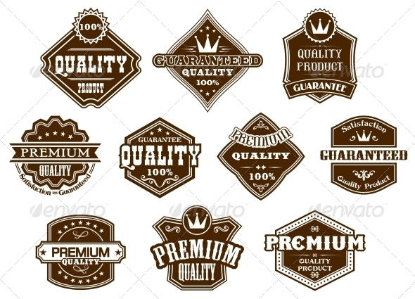 GraphicRiver Labels and Banners in Western Style 6197978