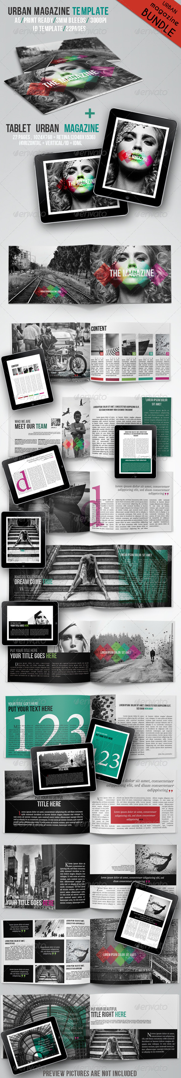 GraphicRiver Urban Magazine Bundle 6198088
