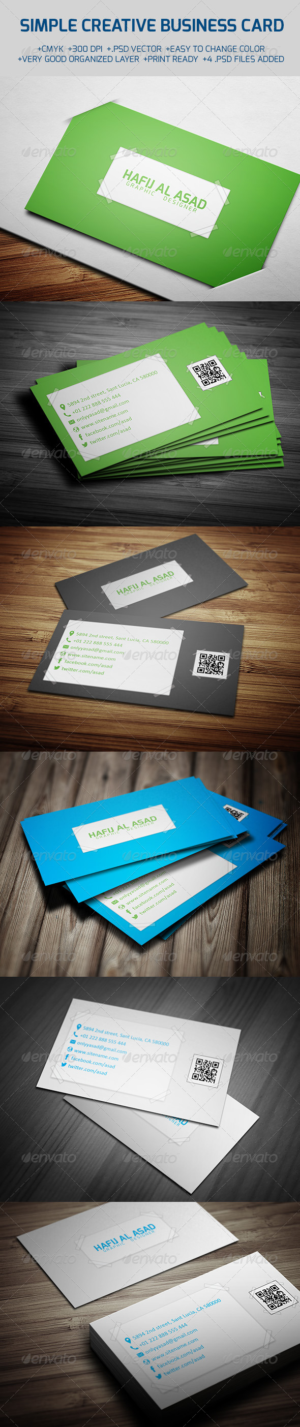 GraphicRiver Simple Creative Business Card 6197182