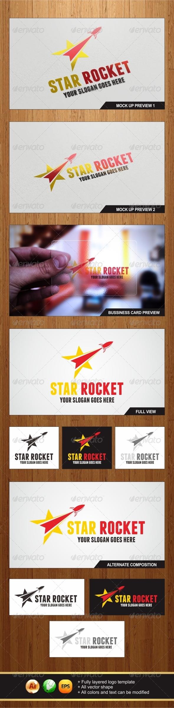 GraphicRiver Star Rocket Logo 6198214