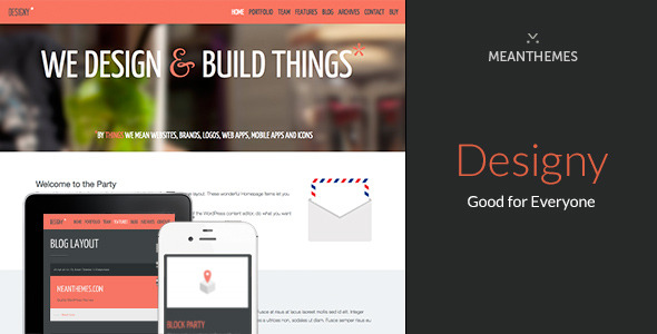 Designy: A design led Business WordPress theme