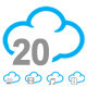 20 Cloud Icon Set  - GraphicRiver Item for Sale