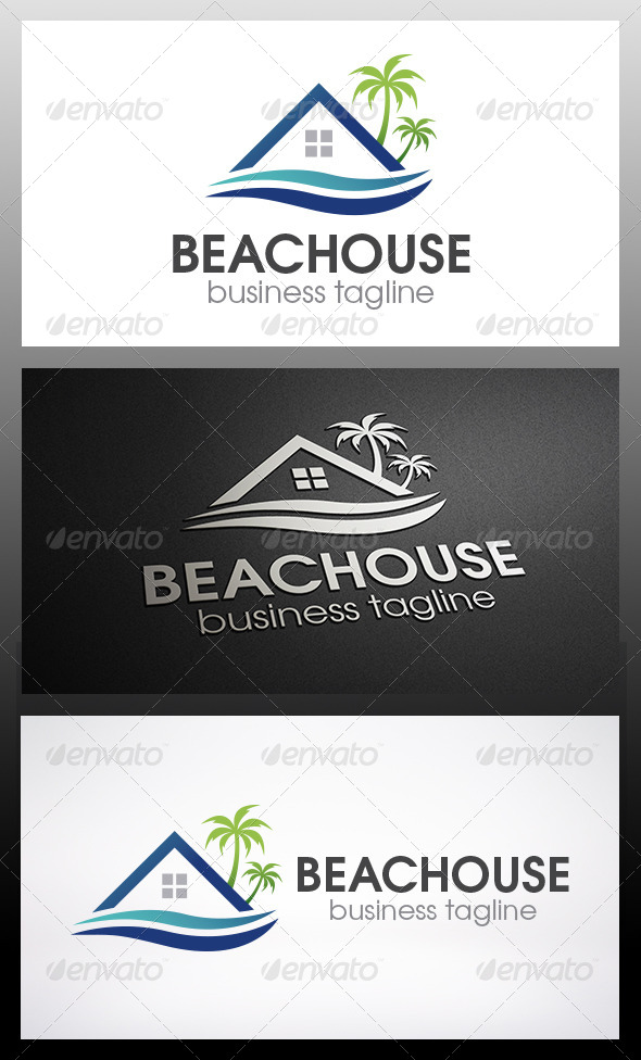 GraphicRiver Beach House Logo 6198413