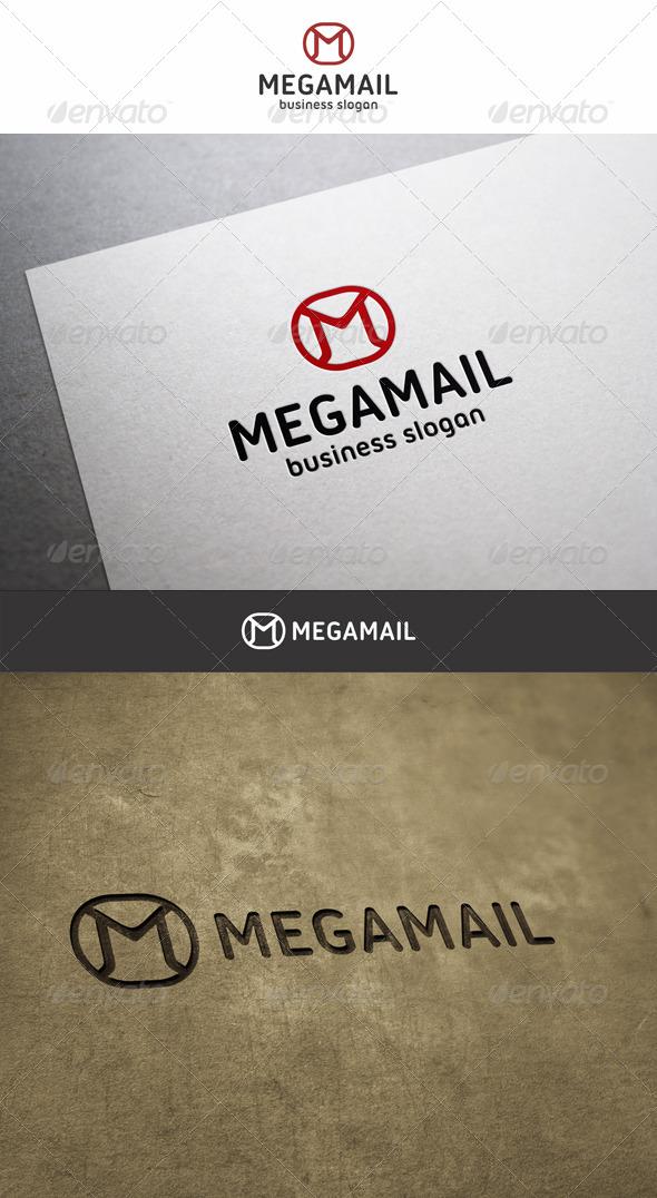 Mega Mail M Logo - Letters Logo Templates