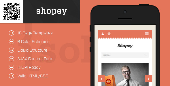 shopey   Mobile HTML/CSS eCommerce Template