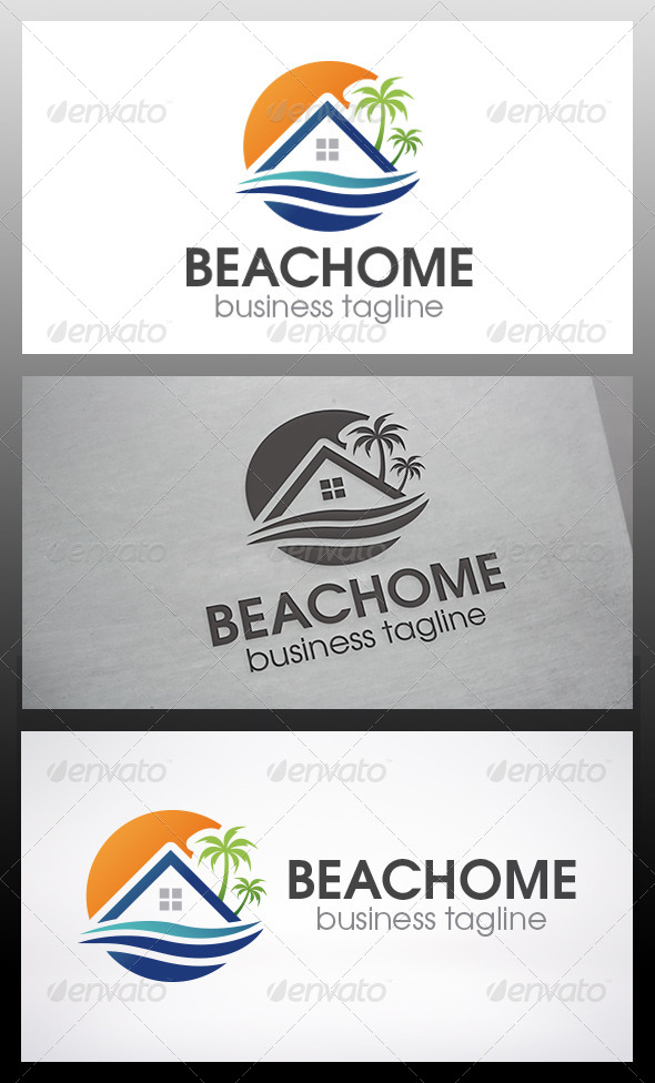 GraphicRiver Beach Home Logo 6198578