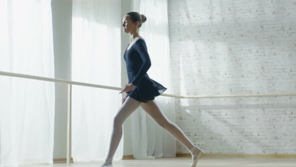 VideoHive Young and Graceful Ballerina Jumps in Slow Motion 19473650