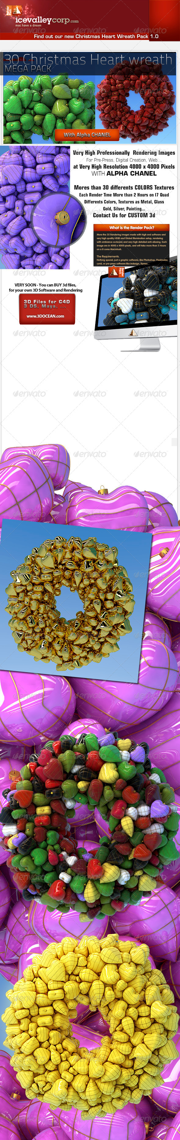 GraphicRiver 35 Christmas Wreath Balls Hires 6165630