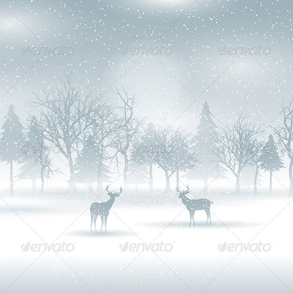 GraphicRiver Christmas Winter Scene 6198764