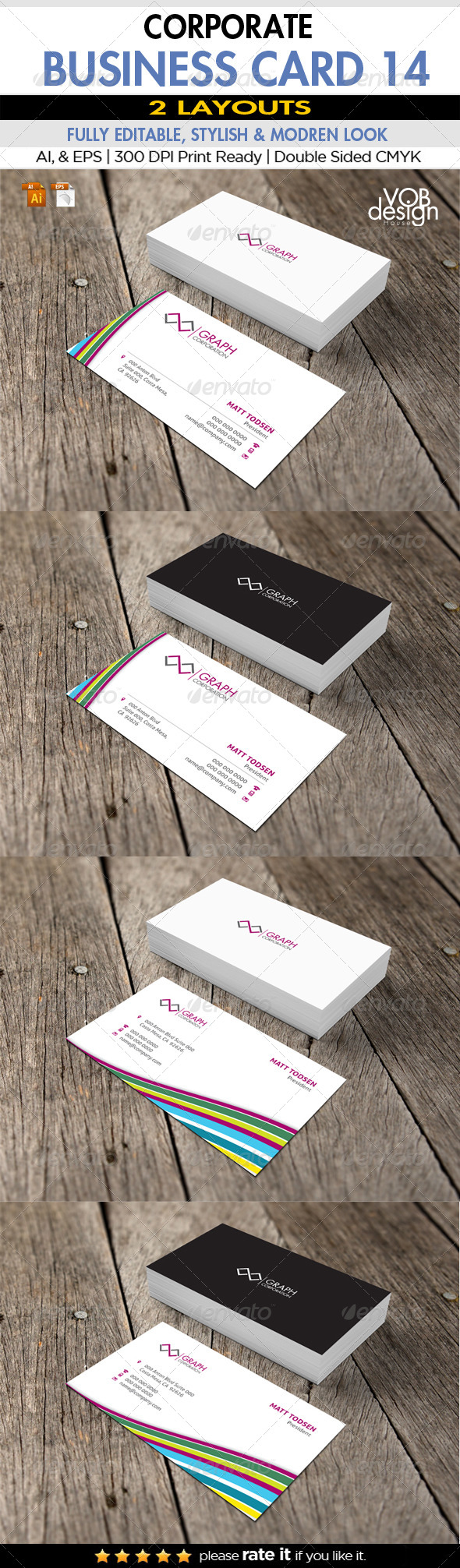 GraphicRiver Corporate Business Card 14 6198950