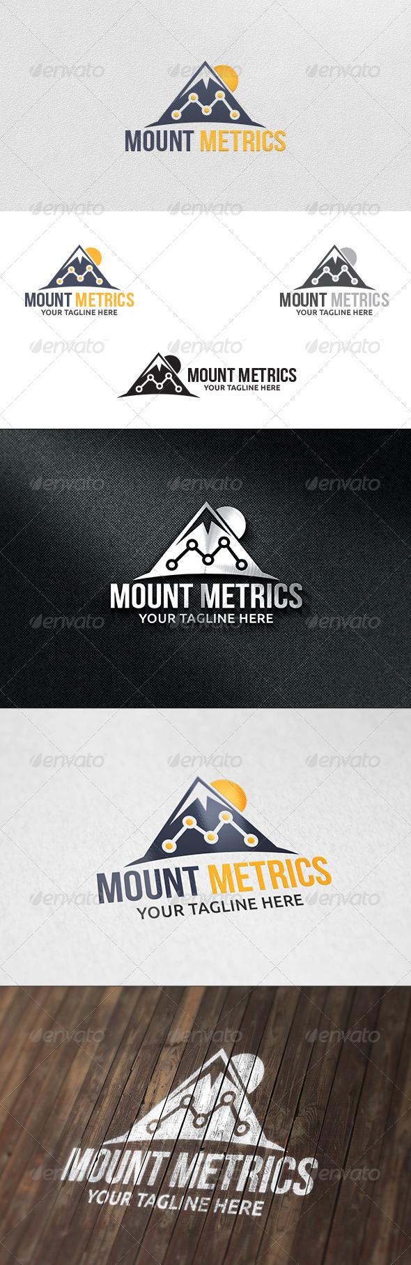 GraphicRiver Mountain Metrics Logo Template 6199134
