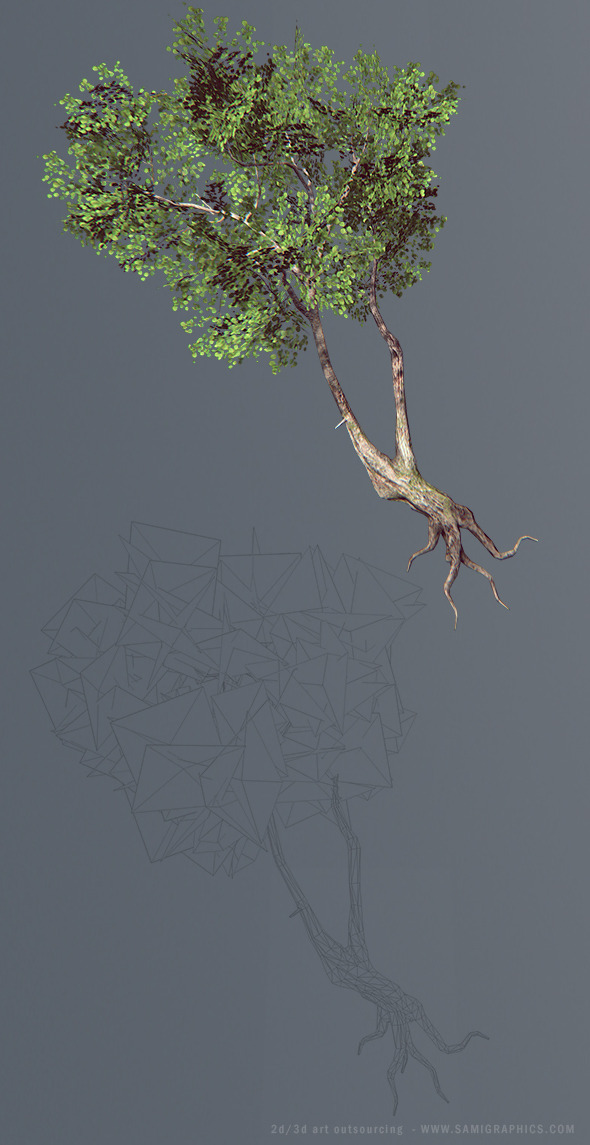 Next Gen Tree (Low Poly) - 3DOcean Item for Sale