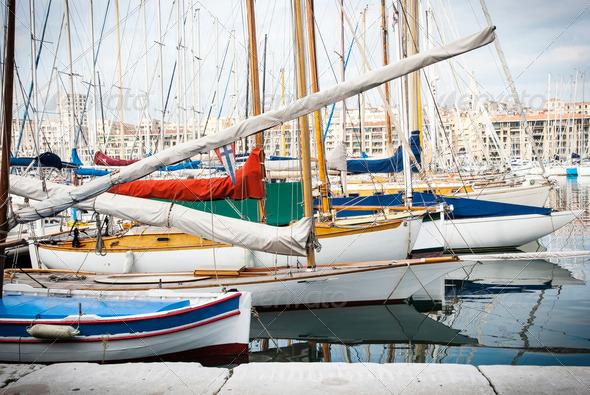 Harbour - Vieux Port of Marseille - Stock Photo - Images
