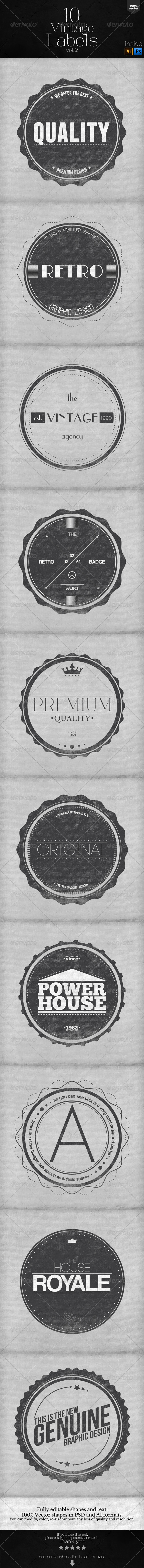 GraphicRiver Vintage Labels and Badges Vol.2 6174447