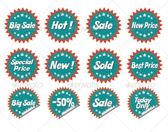 GraphicRiver Set Stickers 6199620