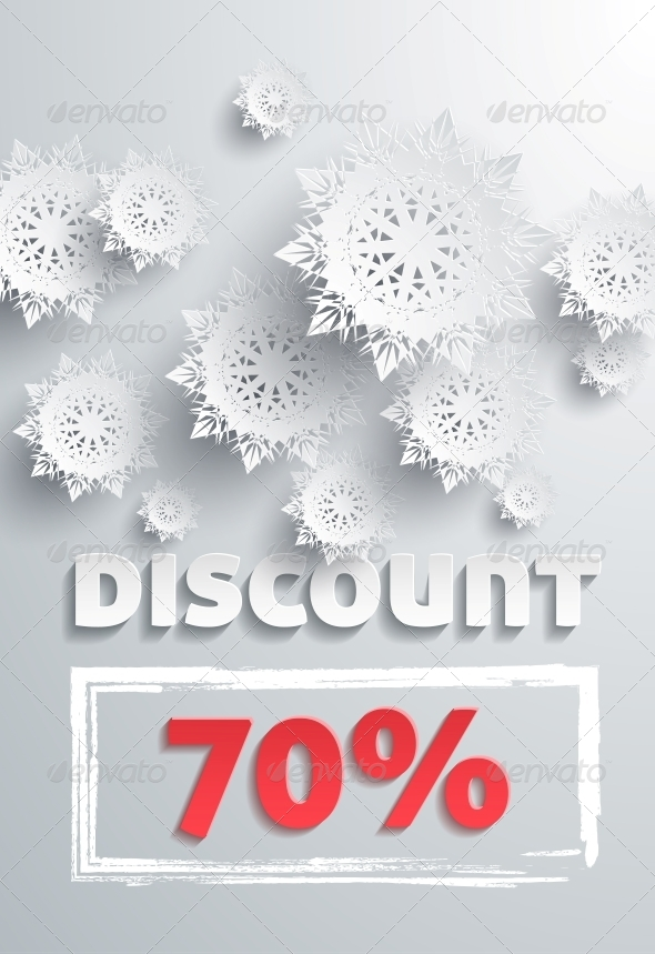 GraphicRiver Discount and Snowflakes 6199652