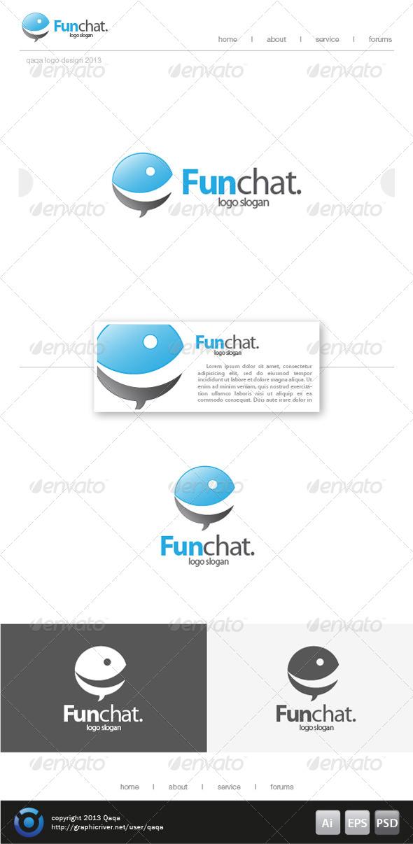 GraphicRiver Fun Bubble Chat Logo 6199679