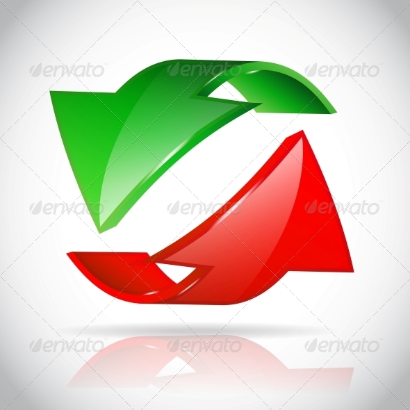 GraphicRiver Arrow Circle Green and Red 6199747