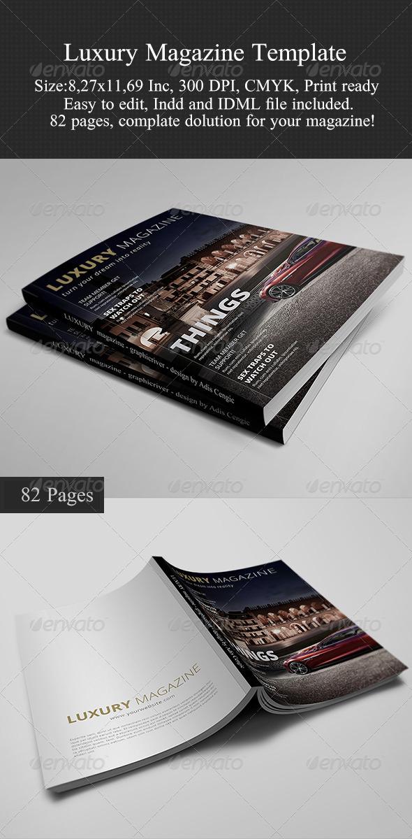 GraphicRiver Luxury Magazine Template 6199338