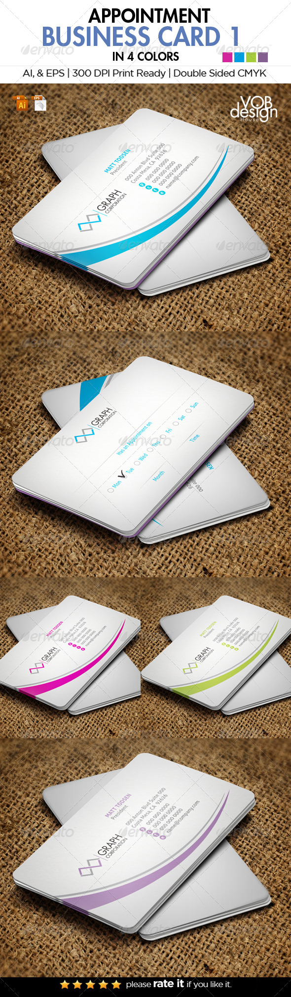GraphicRiver Appointment Business Card 1 6199755